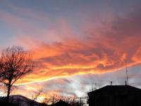 Noworoczny zachód słońca nad domem Mery w Saqdrioni (Edikilisi)