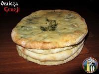 Chaczapuri z serem i burakiem liściowym, dom gościnny Gamarjoba w Uszguli