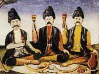 Kachetski epos [Niko Pirosmani] - ilustracja do toastu gruzińskiego