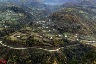 Adżarskie wioski rozsiane w dolinie rzeki Ajaristskali, Gruzja