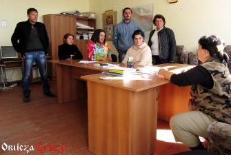 Nauczyciele ze szkoły gruzińskiej w wiosce Sameba, Dżawachetia