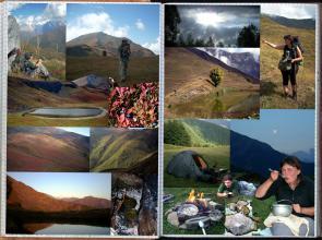 Droga przez przełęcz między Górną a Dolną Swanetią, Góry Swaneckie --2