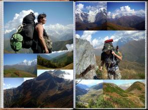 Droga przez przełęcz między Górną a Dolną Swanetią, Góry Swaneckie