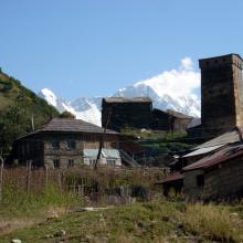 Khalo - wieś w Górnej Swanetii