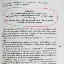 Strona z książki Pakosińskiej Georgialiki - toast gruziński o szczęściu