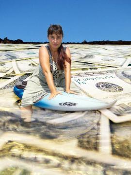 Surfowanie po morzu pieniędzy [grafika - Adam Bińkowski]