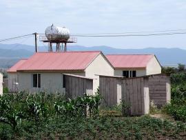 Rezerwuar wody w obozie uchodźców w Gruzji