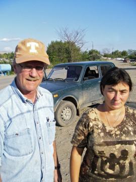 Z profesorem Reid Ferringiem na wykopaliskach w Dmanisi