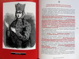 Strona z książki Pakosińskiej Georgialiki - rozdział o Królowej Tamar