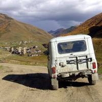 Droga do Ushguli, Górna Swanetia, Gruzja