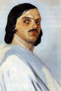 Młody Gruzin w bieli [obraz - Grigory Gagarin]