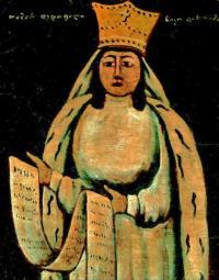 Królowa Tamar - ilustracja do toastu gruzińskiego [obraz Niko Pirosmaniego]