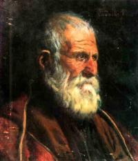 Stary Gruzin - obraz Gigo Gabashvili