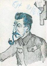 Stalin - rysunek Nikolaia Bukharina