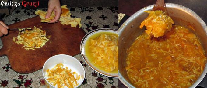 Dżem z gruzińskich pomarańczy